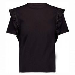 camiseta manga corta niña gris acero por detrás