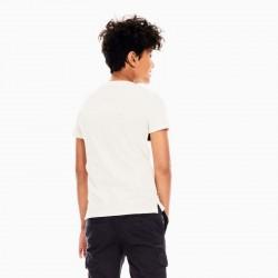 camiseta manga corta niño garcia jeans rayas por detrás