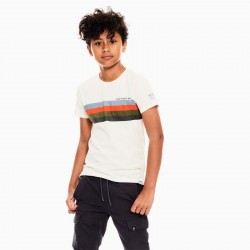 camiseta manga corta niño garcia jeans rayas