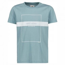camiseta niño garcia jenas azul acero