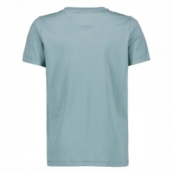 camiseta manga corta niño azul acero por detrás