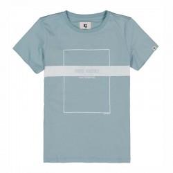 camiseta manga corta niño azul acero