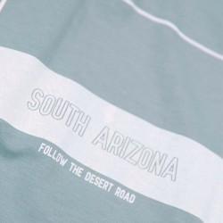 estampado camiseta niño azul acero