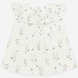 vestido bebe de plumeti flores  paz rodriguez por detrás