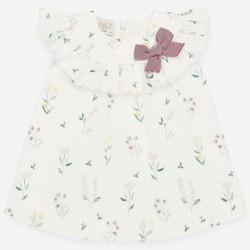 vestido bebe de plumeti flores  paz rodriguez