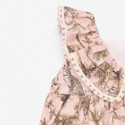 detalle volante vestido bebe niña estampado safari de paz rodriguez