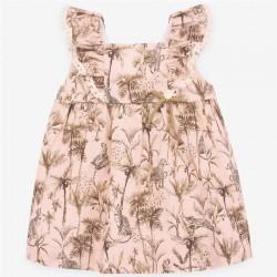 vestido bebe niña estampado safari de paz rodriguez por detrás