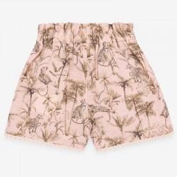 pantalón corto niña estampado safari paz rodriguez por detrás