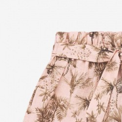 detalle pantalón corto niña estampado safari paz rodriguez