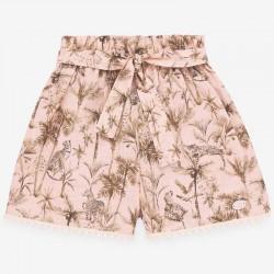 pantalón corto niña estampado safari paz rodriguez