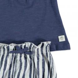 short y camiseta bebe niña azul cotton fish