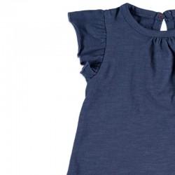 camiseta bebe niña azul cotton fish