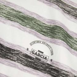 detalle camiseta niño corta rayas de garcia jeans