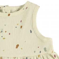detalle vestido bebe vainilla de baby clic