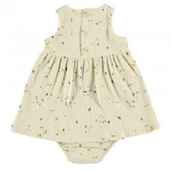 vestido bebe vainilla de baby clic por detrás