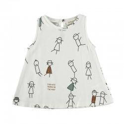 camiseta desmangada bebe estampado people
