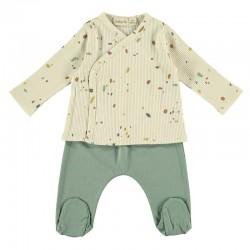 conjunto polaina verde y jubon confeti de baby clic
