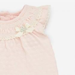 detalle lazo pelele bebe niña mandarina de paz rodriguez