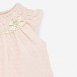 detalle lazo vestido bebe mandarina de paz rodriguez