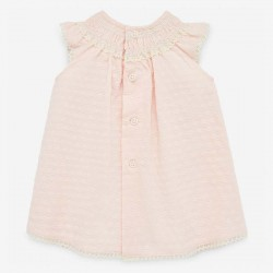 vestido bebe mandarina de paz rodriguez por detrás