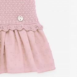 detalle bordado vestido bebe rosa paz rodriguez
