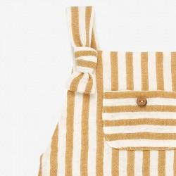 detalle delantero ranita bebe verano de paz rodriguez amarillo mostaza