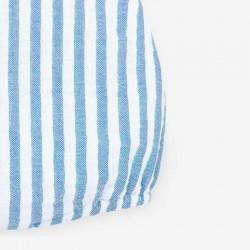 tejido de ranita bebe a rayas azul Francia