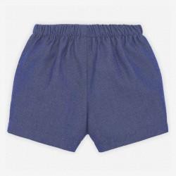 pantalón corto bebe azul ártico de paz rodriguez por detrás