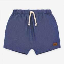 pantalón corto bebe azul artico de paz rodriguez