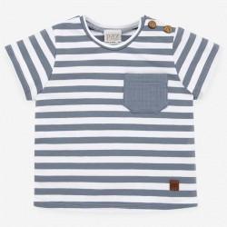 camiseta bebe niño rayas azul artico