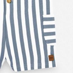 detalle bolsillo peto bebe verano rayas azul artico de paz rodriguez