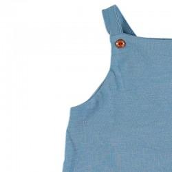 detalle ranita bebe azul jeans de cotton fish