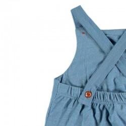 detalle tirantes ranita bebe azul jeans de cotton fish