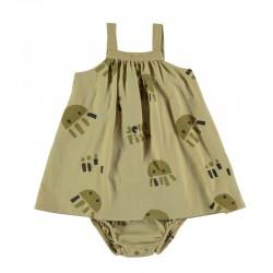 vestido tirantes bebe mostaza y medusas con braguita