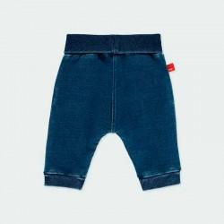 pantalón denim bebe azul de boboli por detrás