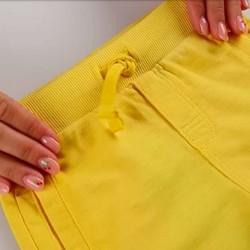 cintura elástica bermuda punto niño amarilla de boboli
