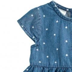 detalle manga vestido denim bebe de ido