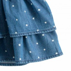 detalle volantes vestido denim bebe de ido