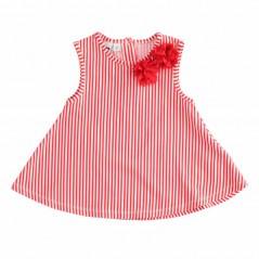 vestido niña veraniego rayas rojas