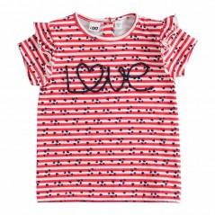 camiseta niña rayas rojas de ido
