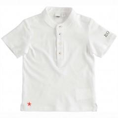 camiseta niño blanca cuello mao