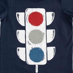 detalle camiseta niño semáforo lentejuelas  de ido