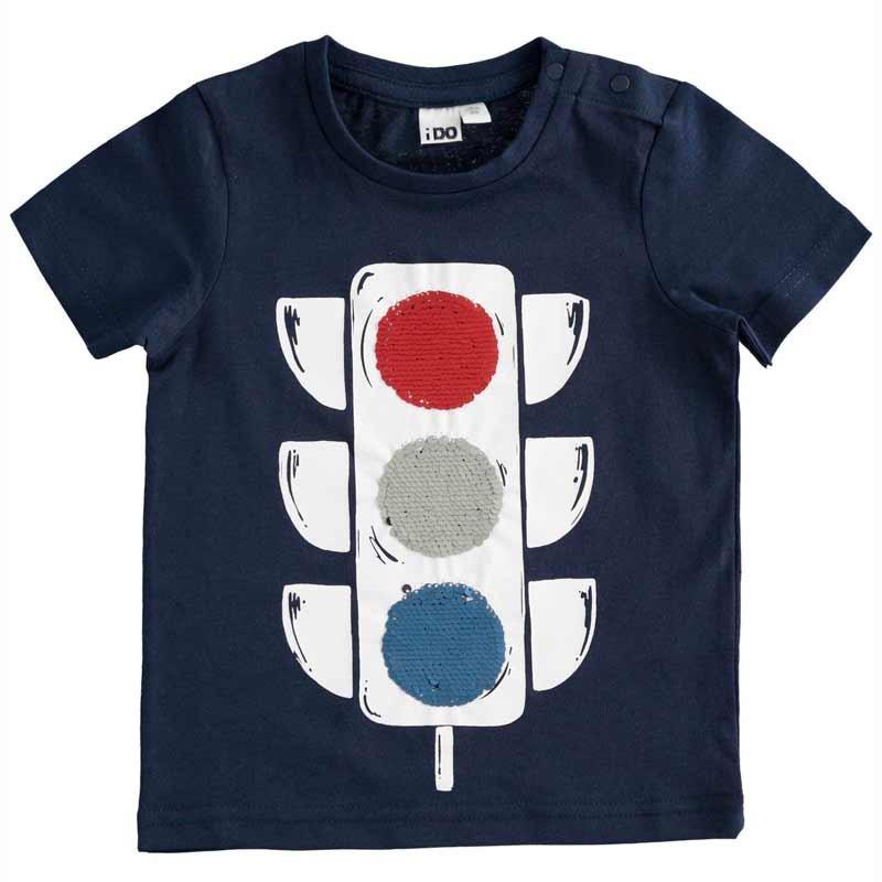 camiseta niño semáforo lentejuelas  de ido