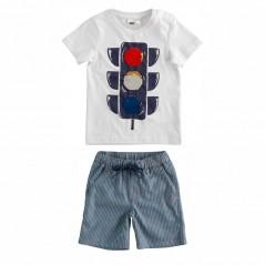 conjunto niño veraniego camiseta semaforo de ido