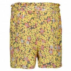 bermuda flores amarillas garcia jeans por detras