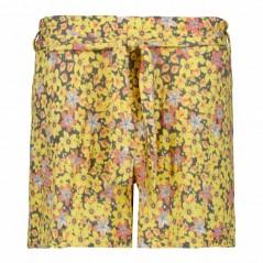 bermuda garcia jeans de tela estampado flores amarillas