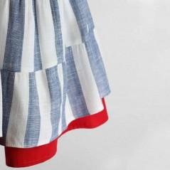 bajos vestido tirantes niña de vestir rayas azules bas marti
