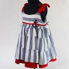 vestido tirantes niña de vestir rayas azules bas marti