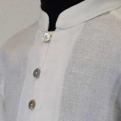 camisa de vestir niño marfil