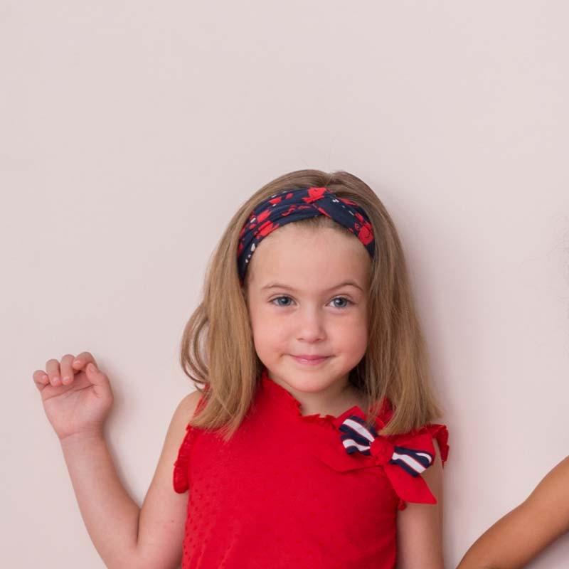 turbante niña rojo y azul bas marti